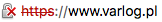 Nieprawidłowy certyfikat SSL